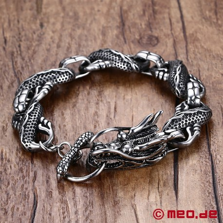 Stainless steel bracelet - Dragon's head