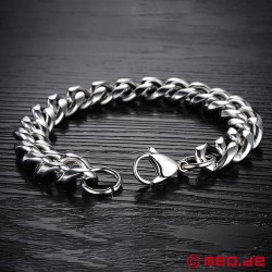 Chunky stainless steel bracelet for men