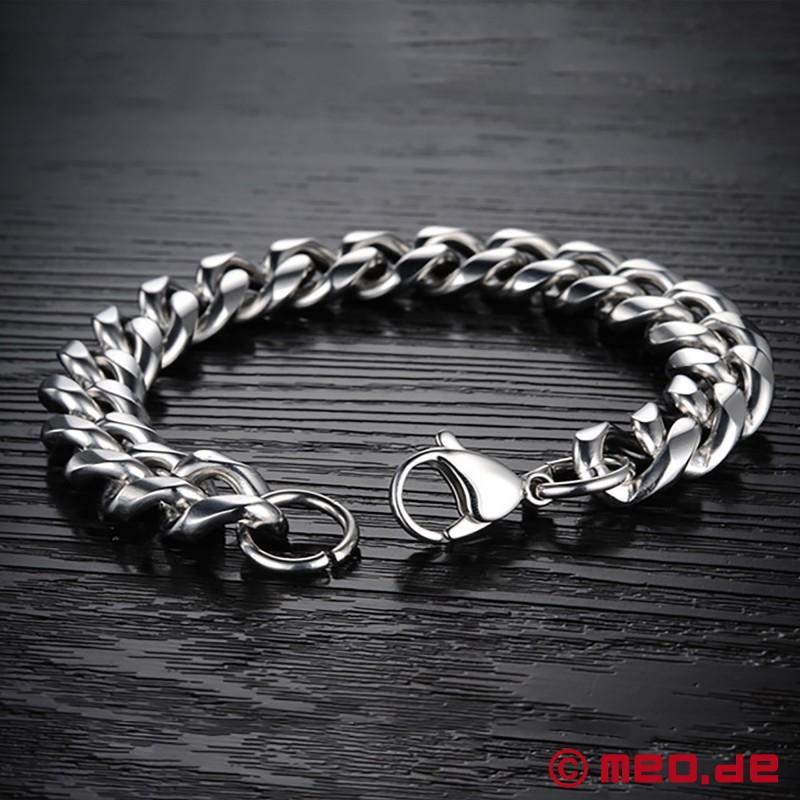 chunky armband aus edelstahl f r m nner bei meo online kaufen bds. Black Bedroom Furniture Sets. Home Design Ideas