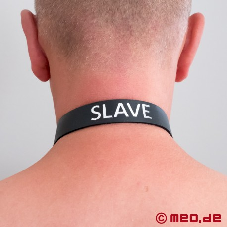 Wordband - Leather collar with lettering