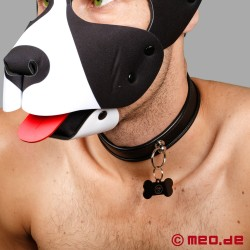Slave collar - narrow puppy collar made of leather black