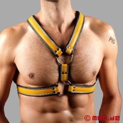 Code Z Berlin Bondage Harness schwarz/gelb