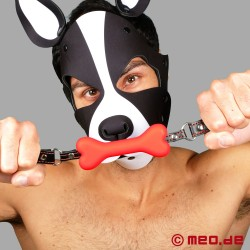 Bad Puppy Bone Gag - Red Dog Bone Gag