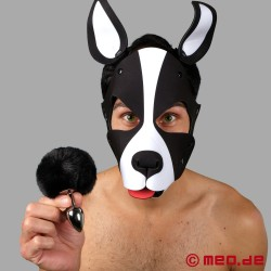 Bad Puppy Buttplug Pompon – black