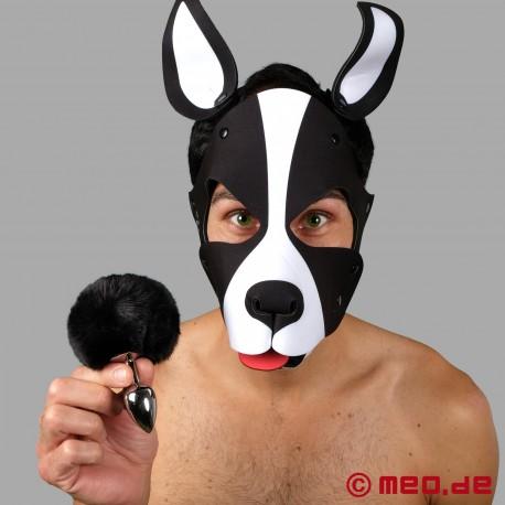 Bad Puppy Buttplug Pompon – schwarz