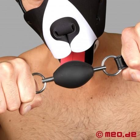 Perfekter BDSM Knebel in schwarz – Ovaler Ballknebel
