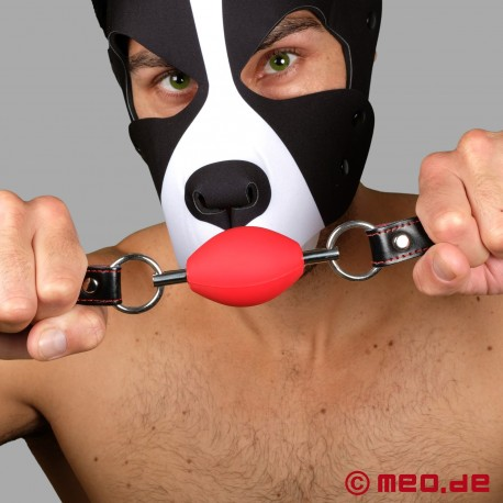 Perfect BDSM Gag in red - Oval Ball Gag
