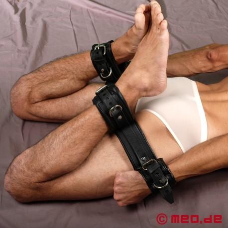 Heavy Leather Hogtie Set – Kit ultime de bondage Hogtie en cuir robuste