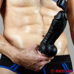 "Real Stallion Black Dildo with 20 cm / 8"" length"