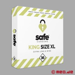 Safe - King Size XL Condoms - Box with 36 condoms