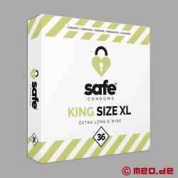Safe - King Size XL Kondome - Box mit 36 Kondomen