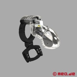 PUBIC ENEMY NO 3 - E-stim chastity belt with testicle crusher