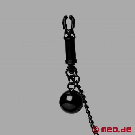 Morsetti per capezzoli con catena e peso