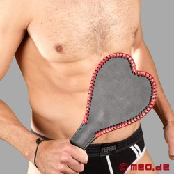 Large, heart-shaped paddle for spanking and SM