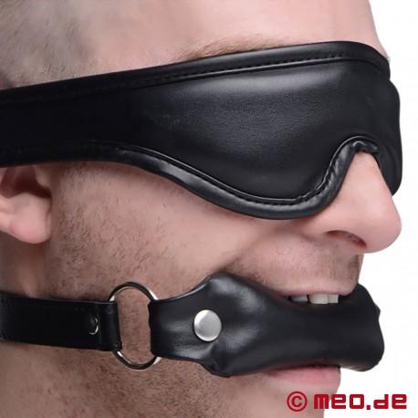 BDSM-Set: Gepolsterte Augenbinde und Mundknebel