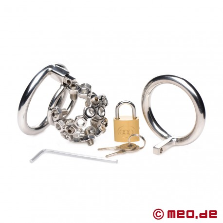 Bolted Chastity Cage with Spikes