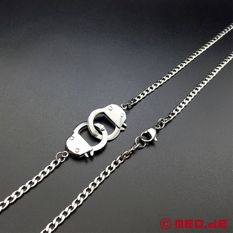 BDSM necklace with handcuffs