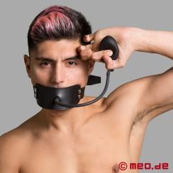 Maschera per la bocca con bavaglio gonfiabile