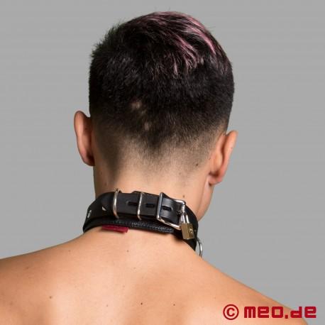 Abschließbares Bondage Lederhalsband - Halsband mit Schloss