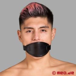 Ball gag rosso con maschera per bocca
