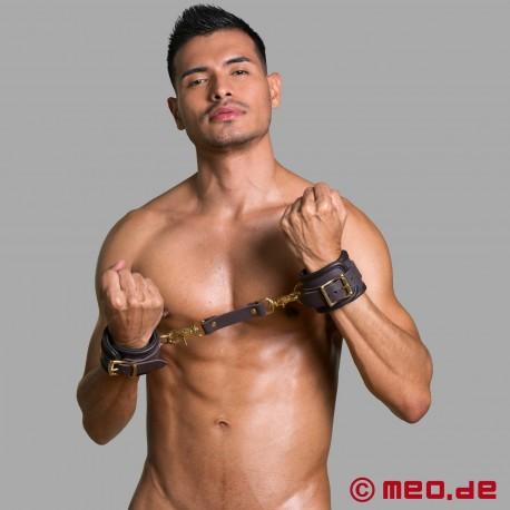 Leather bondage wrist restraints