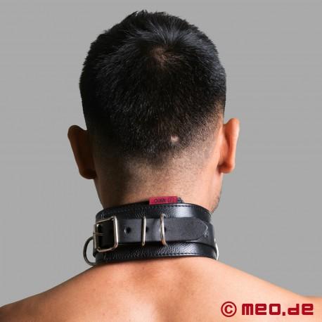 Collare bondage in pelle