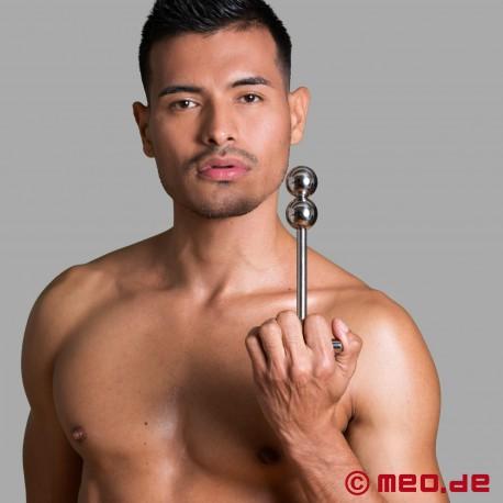 Gode anal en inox - Stimulateur Alpha Male à deux boules