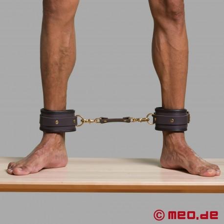 Leather bondage ankle restraints