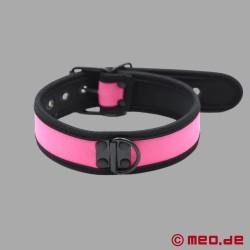 BDSM collar made of neoprene in pink
