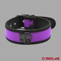 BDSM collar made of neoprene in purple