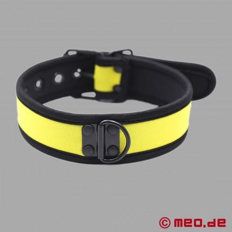 BDSM collar made of neoprene in yellow
