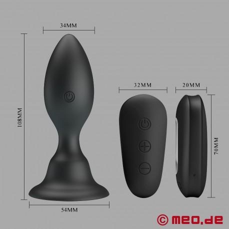 ASSGRESSOR plug anale vibrante con telecomando