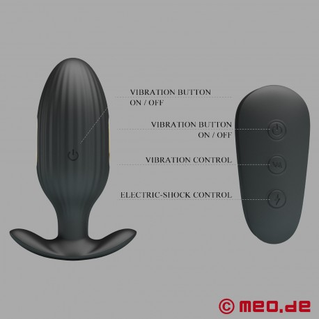 24/7 BDSM Analplug mit Elektrostimulation, Vibration & Fernbedienung