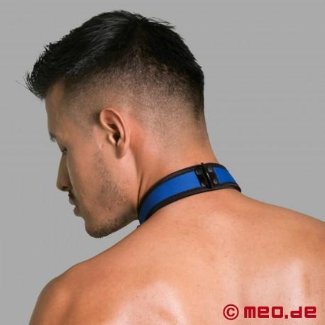 BDSM collar made of neoprene in blue