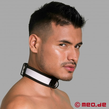 BDSM collar made of neoprene in white