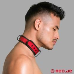 BDSM Halsband aus Neopren in rot