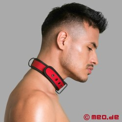 Collier rouge BDSM en néoprène