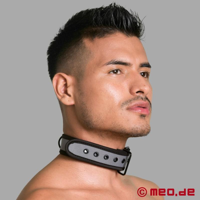 BDSM Halsband aus Neopren in grau bei MEO online kaufen