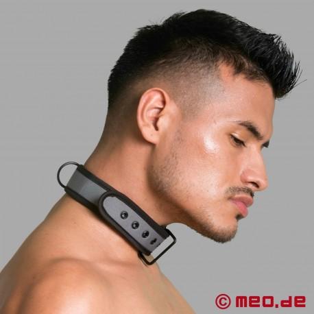 BDSM collar made of neoprene in grey