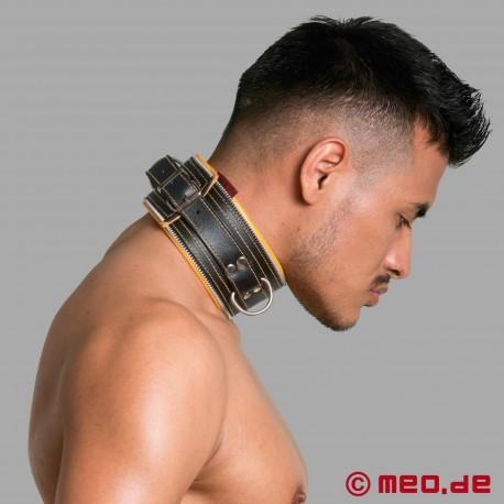 Code Z Bondage Halsband schwarz/gelb