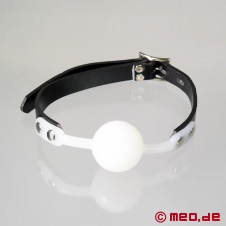 Bâillon à balle blanc verrouillable