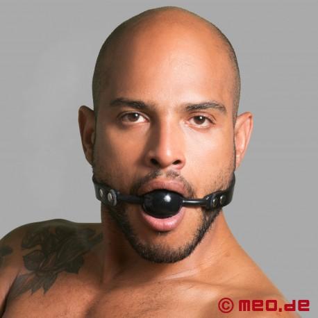 Lockable Black Ball Gag - Bondage Mouth Gag