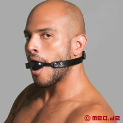 Black lockable ball gag