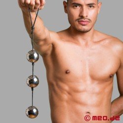 Stainless steel anal balls