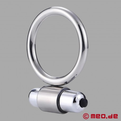 Metal Cock Ring with Vibration
