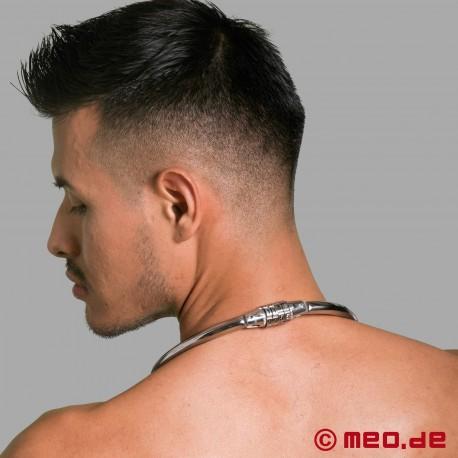 Collier BDSM avec cadenas à code chiffré