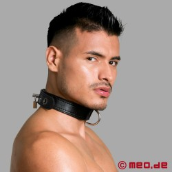 Leather slave collar - San Francisco series