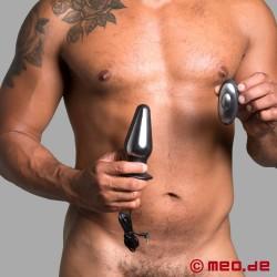 Plug anal télécommandé pour l'électrosexe
