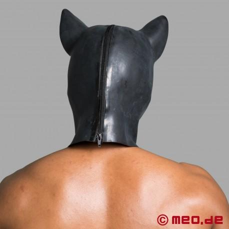 """Maschera da Maiale – Maschera per la testa """"Maiale"""" in latex nero"""