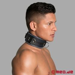 Code Z Bondage Halsband schwarz/blau